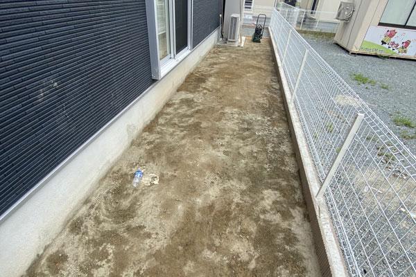 兵庫県加古川市K様邸 お庭の人工芝施工